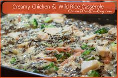 Creamy Chicken & Wild Rice Casserole