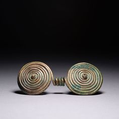Etruscan spiral brooch C.800BC: Note for the perverts: Bronze age ends C.1200BC........: ... Ancient European Bronze Age Spiral Brooch - 1000 BC