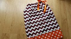 Trendy Maroon chevron orange chevron polka dot Girl's dress - A-line pillowcase…