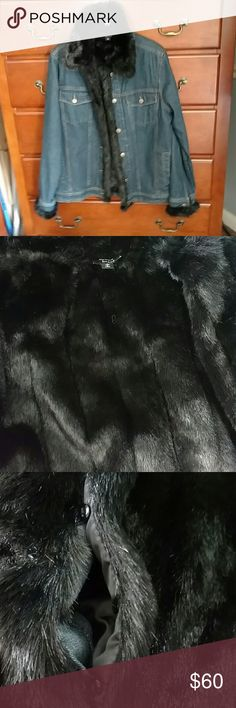 Dennis Basso jean jacket 🎇 Listing ending soon 🎇 Dennis Basso Jean jacket size S trimmed in Black faux mink fur. The inside of the jackets fur can be unbuttoned, as picture reflects and is totally lined on the opposite side so you can also wear as a vest. 2 for 1! Excellent pre loved condition. Comes with dust bag. Dennis Basso Jackets & Coats Jean Jackets