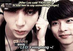 N looks so done with Leo
