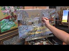 """Картина маслом """"Зимний пейзаж"""" пишет художник Иван Минеев - YouTube"""