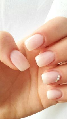 Soft ombre nails