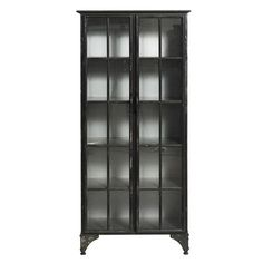 ACHICA   Downtown Iron Cabinet, Black