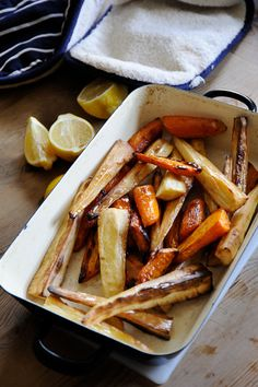 Roasted carrots and parsnip, hit with some fresh pepper and salt, a dash of olive oil and roasted for 60 minutes at 375 – tough to beat.