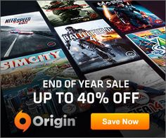 SimCity and Sims 3 Starter Pack are 40% off! End of Year Sale on Origin!