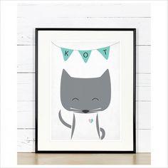 Plakat poznajmy zwierzęta - Kot, A4