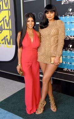 Kourtney Kardashian & Kylie Jenner from 2015 MTV Video Music Awards Red Carpet Arrivals | E! Online