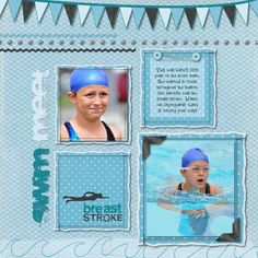 Swim Meet - Swimming Digital Additions Scrapbook / photo book Layout. Detailed Instructions from Creative Memories Project Center: http://projectcenter.creativememories.com/photos/digital_sports/swim-meet-swimming-digital-additions-scrapbook-layout.html