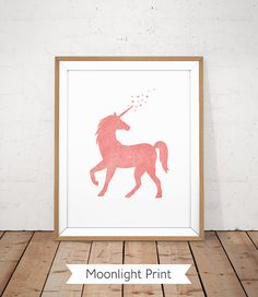 PLEASE NOTE :  THIS IS AN INSTANT DOWNLOAD - DIGITAL FILE NO PHYSICAL PRINT OR FRAME WILL BE SHIPPED   SIMILAR PRINTS : https://www.etsy.com/shop/MoonlightPrint/search?search_query=unicorn   INCLUDED FILES ( High quality full 300 dpi image ) :  • 1 JPG size 11x14 • 1 JPG size 8x10 • 1 JPG size 5x7 (with a thin outline for easy trimming) • 1 JPG size A3   HOW IT WORKS :  - Purchase this listing - You will receive an email with a download link - Download the file - Print at home or at a local…
