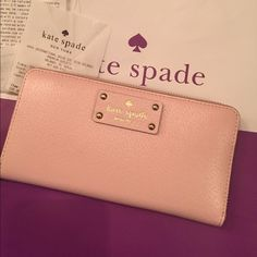New Kate spade pink wallet New with tags light pink wallet kate spade Bags Wallets