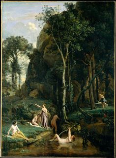 "Happy birthday to Camille Corot, born on this day in 1796. Celebrate with ""Diana and Actaeon."" http://met.org/1K8bISp"