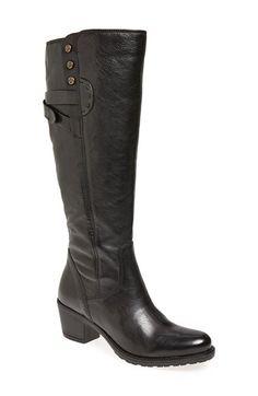 Clarks 'Maymie Stellar' Knee High Boot (Women) Black Leather Size 10 M on Vein - getVein.com
