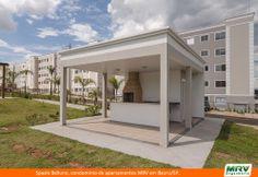 Paisagismo do Belluno. Condomínio fechado de apartamentos localizado em Bauru / SP.
