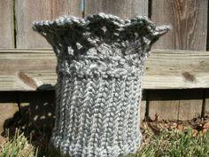Silver Gray Lace Boot Cuff - Knit & Crochet  via Etsy.