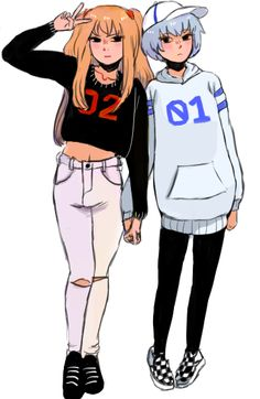 Neon Genesis Evangelion - Asuka and Rei
