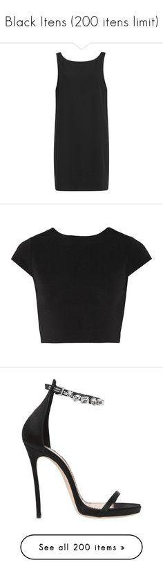 """Black Itens (200 itens limit)"" by dianasf ❤ liked on Polyvore featuring dresses, vestidos, black, slip dresses, boat neck dresses, lightweight dresses, sleeveless t shirt dress, bateau neckline dress, tops and shirts"
