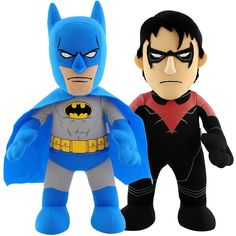 DC Universe Dynamic Duo 10-in. Plush Figures Batman & Nightwing Set by Bleacher Creatures, Multicolor