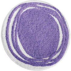 InterDesign Microfiber Polyester Doodle Round Rug, Purple