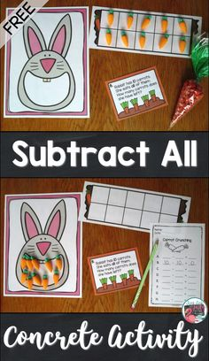 Check out this blog post with a free concrete activity for teaching the concepts of subtracting all or none from a given number in kindergarten, first, or second grades.