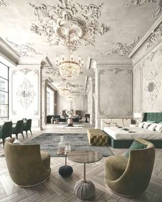 beautiful green modern style living room decor 16 « Home Design Luxury Home Decor, Luxury Interior Design, Interior Styling, Interior Architecture, Luxury Homes, Interior Decorating, Architecture Baroque, Classical Interior Design, Creative Architecture
