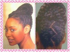 Natural Updos with Marley Hair | updo # natural hair # protective hairstyle # braids