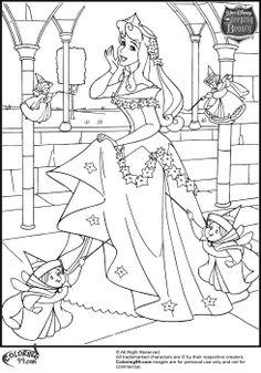 Disney Princess Aurora Coloring Pages