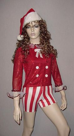CHRISTMAS CANDY CANE Santa Hat Shorts Top Tap Dance Costume Adult Medium & Large #Fina #ShortsTop #dance Christmas Dance Costumes, Dance Costumes Tap, Tap Dance, Short Tops, Christmas Candy, Santa Hat, Candy Cane, Shorts, Medium