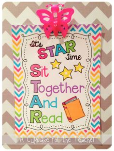 A Cupcake for the Teacher: STAR Time Reading Freebie