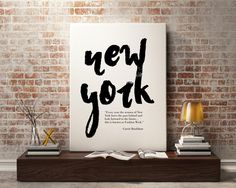 New to StyleScoutDesign on Etsy: New York Fashion Print - New York Travel Poster Wall Art Typography Poster (5.44 USD)