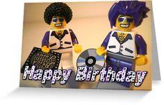 Happy Birthday Greeting Card DJ Clubbing Tru & his Dad Disco Stu ...