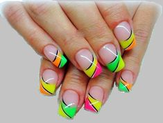 Neon Nail Art trend has brought a rainbow revolution to the nail art designs. Here are our top 9 neon nail art designs which will definitely impress you. Neon Nail Art, Colorful Nail Art, Neon Nails, Rainbow Nails, 80s Nails, Nails News, Zebra Nails, Bright Nails, Nail Art Design Gallery