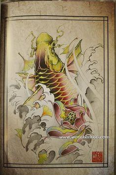 鲤鱼莲花银杏叶纹身手稿 Koi Tattoo Design, Tatoo Designs, Koi Art, Fish Art, Koy Fish, Fish Sketch, Tiger Dragon, Koi Fish Tattoo, Japanese Tattoo Art