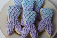 Mermaid Cookies - mermaid party - mermaid birthday - under the sea baby shower - mermaid favors - sugar cookies - mermail tail - cookies by Just4YouTreats on Etsy https://www.etsy.com/listing/507667597/mermaid-cookies-mermaid-party-mermaid