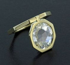 Rose Cut Diamond and 18K Yellow Gold Ring by James de Givenchy #Taffin #JamesdeGivenchy #Ring