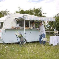 Camper - perfect for a food truck! I'm thinking cupcakes.