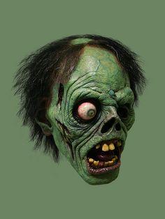 Shock Monster - Jordu Schell / Schell Sculpture Studios - By Jordu Art Zombie, Zombie Head, Zombie Girl, Zombie Makeup, Monster Art, Zombie Monster, Monster Squad, Creepy Monster, Horror Masks