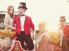 Vintage Circus Engagement Photos | Green Wedding Shoes Wedding Blog | Wedding Trends for Stylish + Creative Brides