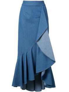 Find amazing denim skirts for women at Farfetch. Explore top jean skirts and designer denim skirts from hundreds of exclusive boutiques. Blouse And Skirt, Denim Skirt, Dress Skirt, Midi Skirt, Frilly Skirt, Ruffle Skirt, Flamenco Skirt, Classic Skirts, Recycled Denim