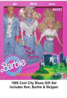 Cool City Blues Denim Fun Barbie, Ken and Skipper Giftset