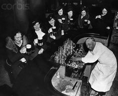 Women celebrating the end of Prohibition, 1933