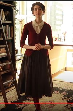 New York Style, My Style, Librarian Chic, Hipster Fashion, Women's Fashion, 20th Century Fashion, Queen Fashion, Gibson Girl, Period Outfit