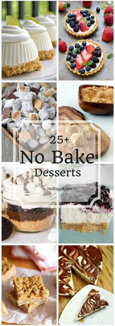 25+ No Bake Desserts   NoBiggie.net