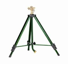 """Orbit 58308 Tripod Base with Brass Impact by Orbit. $43.99. Area coverage 20-foot to 40-foot radius. """"Goose neck"""" hose attachment for easy hose connection. Heavy-duty brass impact head easily adjusts from 00-3600. Sturdy metal construction with weighted legs for added stability. Tripod conveniently adjusts from 25-inches to 48-inches in height. Amazon.com                For a serious sprinkler that fits your unique needs, try the Orbit telescoping tripod sprinkler. It extends f..."""