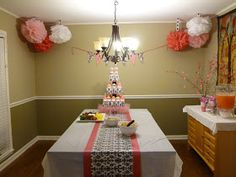 Indulge With Me: Damask baby shower