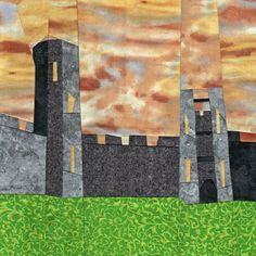 Wonky Castle Quilt Pattern - August. Colour of the fabric - inspiration for bottom layer of castle. We can dye this colour