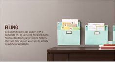 [Martha Stewart Home Office™ with Avery™ File Folders.  On your way to simply beautiful organization.]