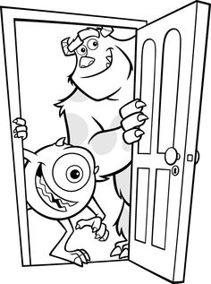 Coloring Sheet: Sully & Mike | Pedagogia | Pinterest | Coloring ...