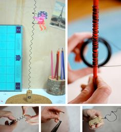 Twirly toy    A very simple project but with a hipnotizing effect for kids or even adults.