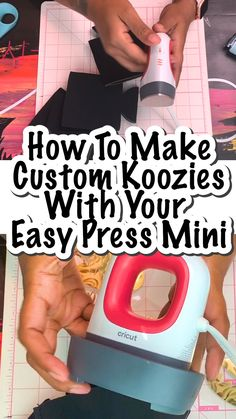 I love how easy it was to figure out how to make custom koozies with the EasyPress Mini. Plus, there's a video! Such a great resource! You are in the right place about Cricut organization Here we offe Cricut Craft Room, Cricut Vinyl, Vinil Cricut, Personalised Gifts Diy, Diy Gifts, Cricut Explore Projects, Circuit Projects, Silhouette Cameo Projects, Silhouette Cameo Shirt